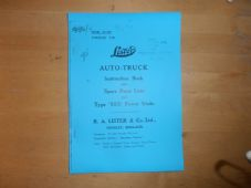 Lister Auto truck.Instruction book and spare parts list. Type SS3 Power unit.